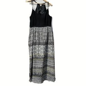 J. Crew Black and White Print Long Dress -Size:12P